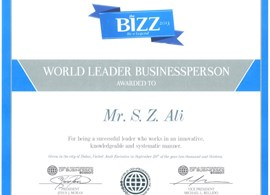 Managing Director receiving the award for WORLD BU