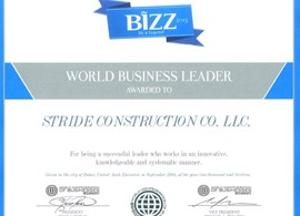 Managing Director receiving the award for WORLD BU